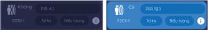 Icon trên App khi phát hiện có chuyển động/không có chuyển động