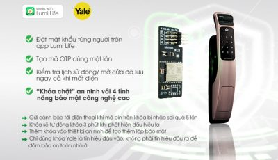 """Chip điện tử Zigbee nắm giữ """"linh hồn"""" của module thông minh Lumi Door Lock Yale"""