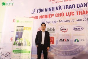 Lumi smart house received the award at the honoring enterprises ceremony of Hanoi city 2019