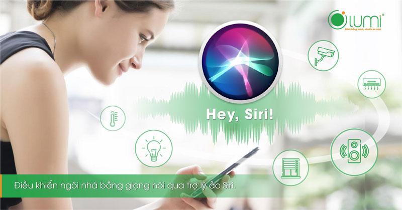 điều khiển nhà thông minh bằng Siri