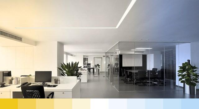 LED dây thông minh tunable white trong văn phòng