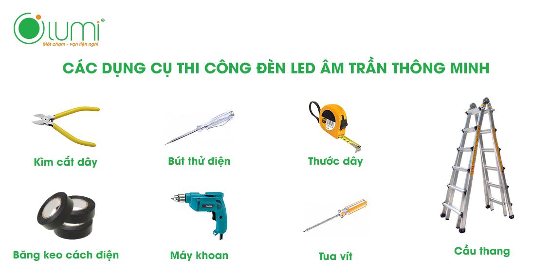 Dụng cụ lắp đặt đèn led âm trần cảm ứng