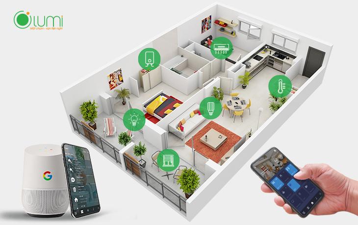 Mô hình chung cư thông minh 2 phòng ngủ