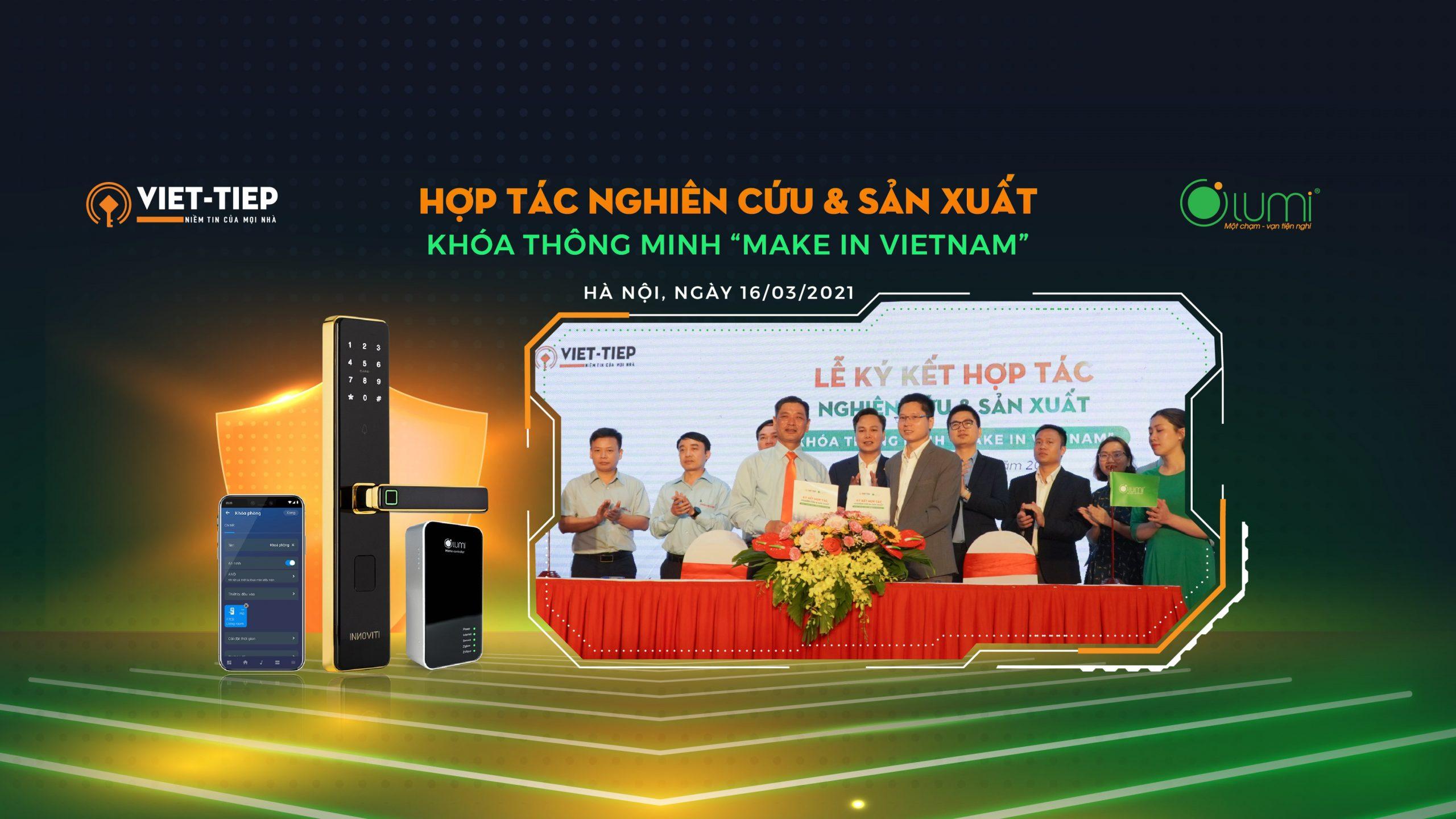 Cover website Lumi hợp tác Việt Tiệp khóa thông minh mobiel